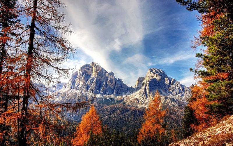 Jesien w dolomitach