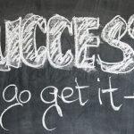 angielski napis sukces